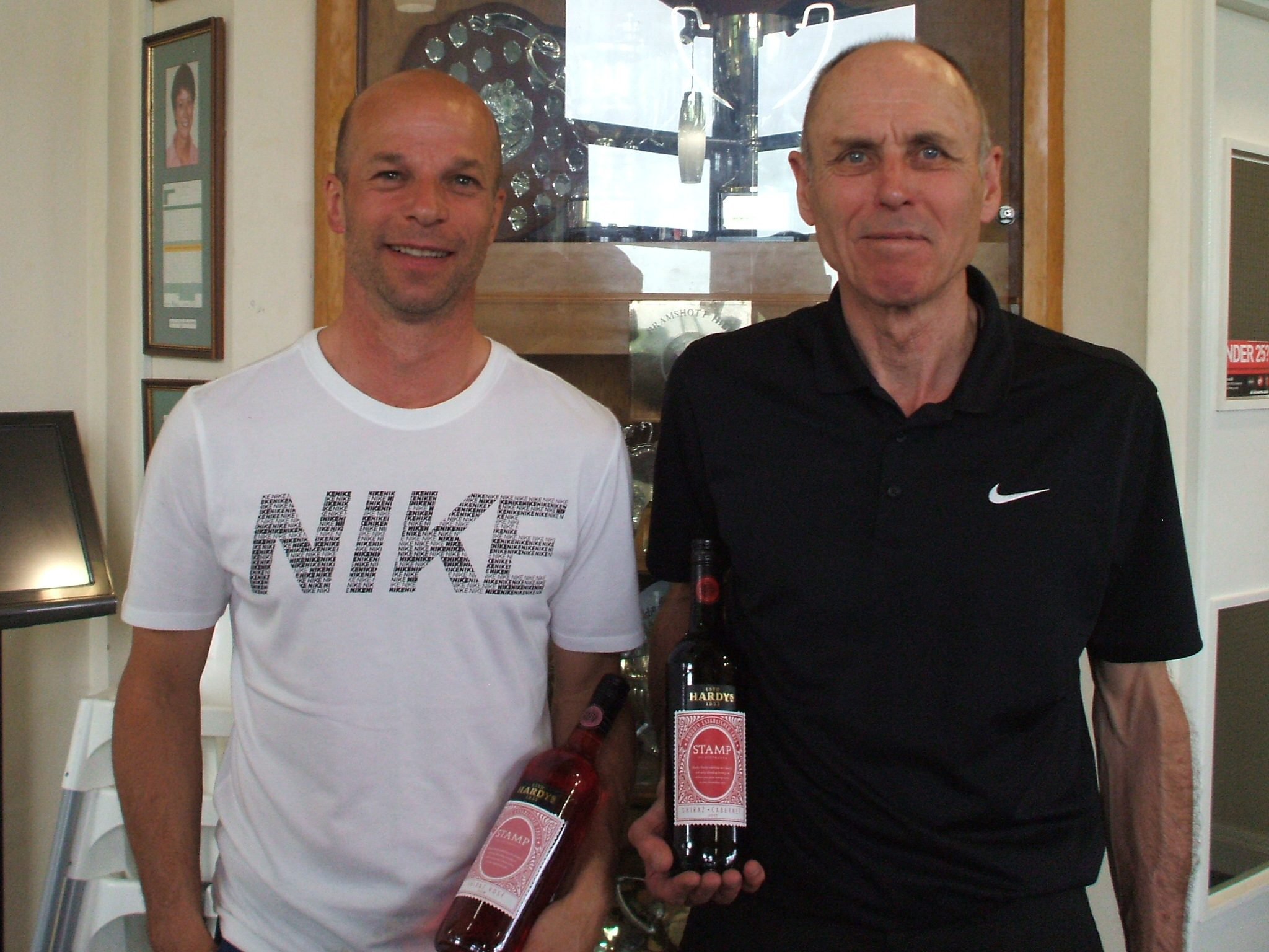 23 April:  Wine Winners L to R: Paul Pallaster; Paul Wastell