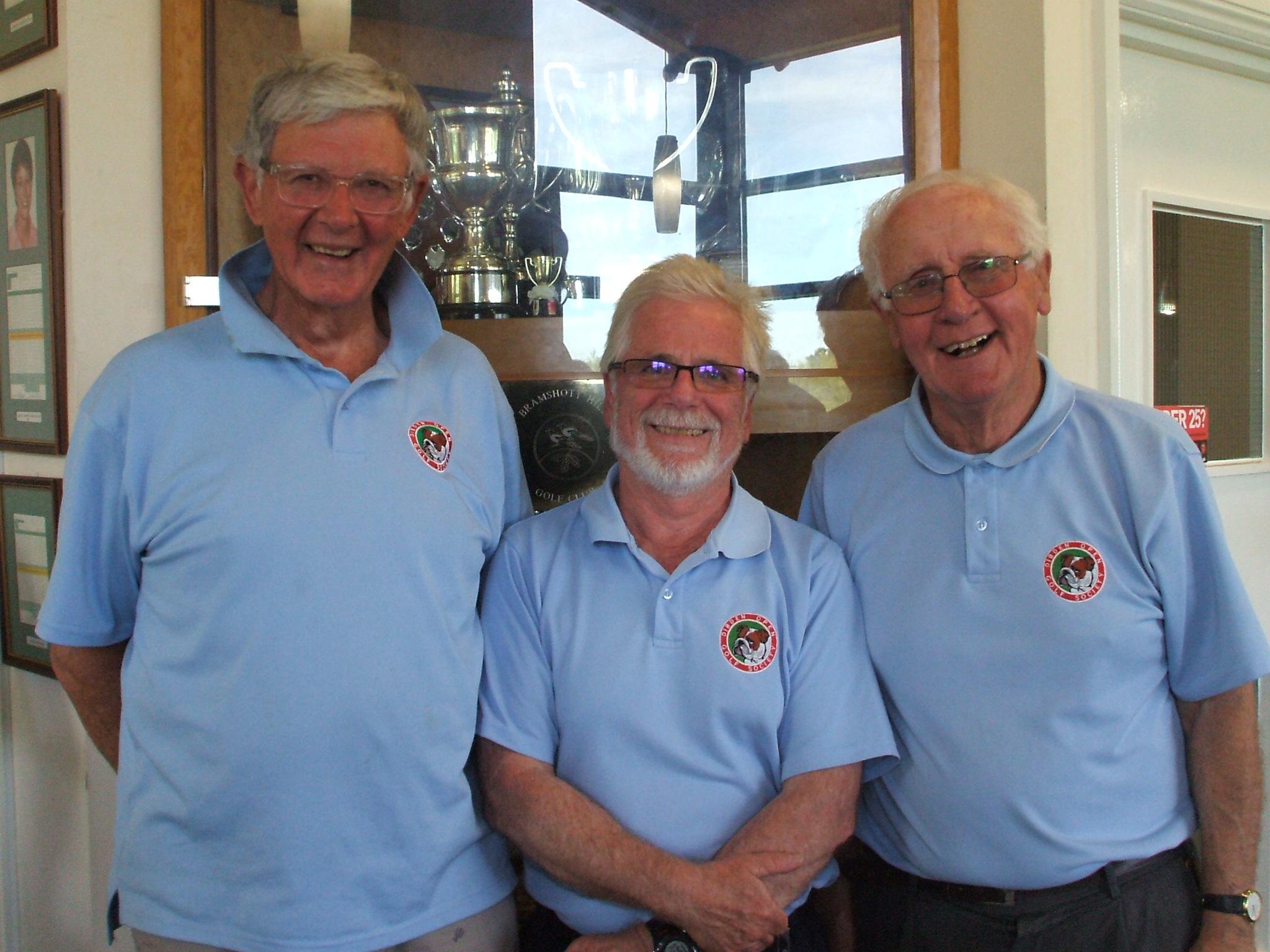 30  Apr: Waltz winners l to r Clive Ellis; Steve Hawkes; Brian Dash
