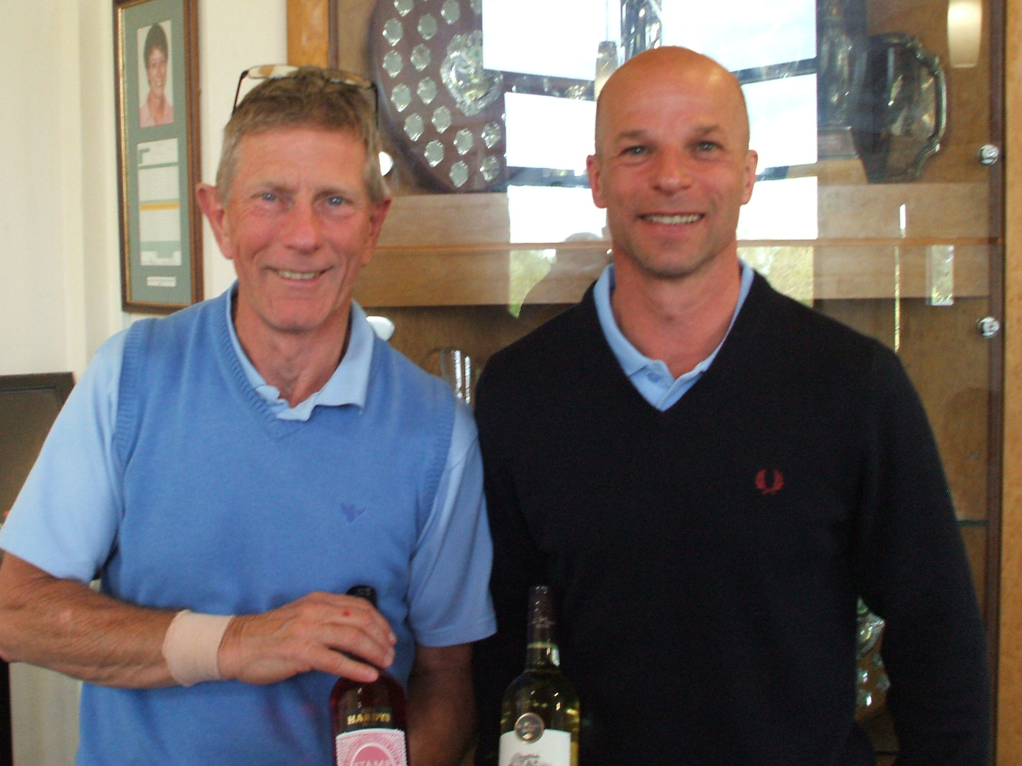 30 Apr: Wine winners l to r Mark Eve; Paul Pallaster