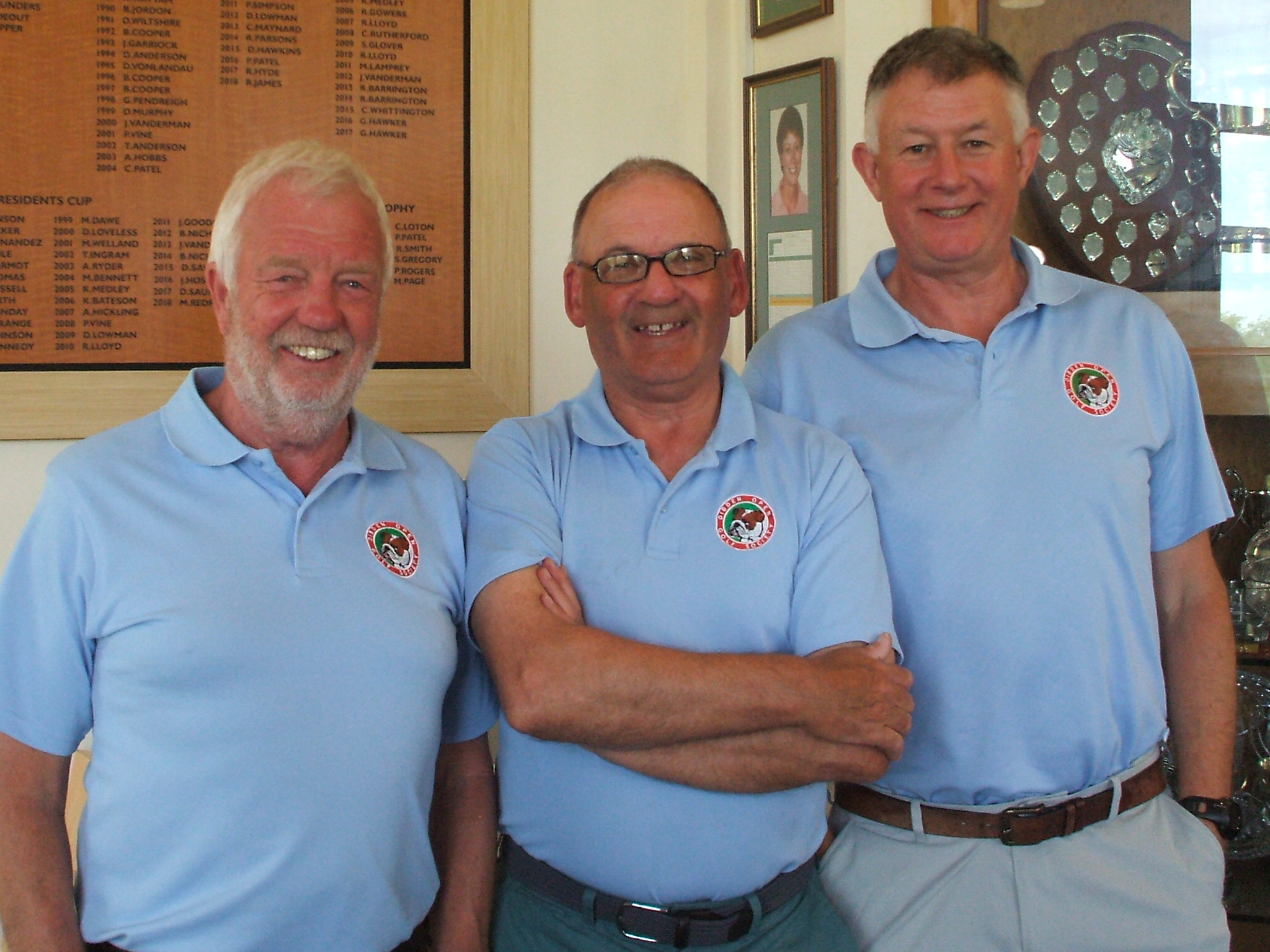 30 Apr: Waltz 2nd place l to r Peter Dunn; Keith Maton; Les Jones