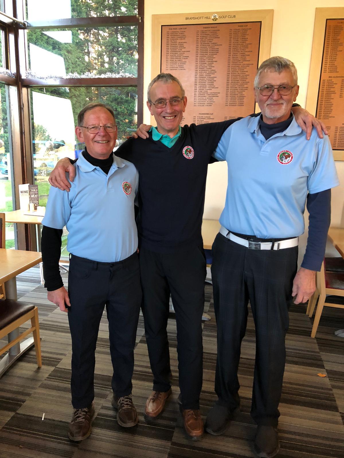 Winners 3 December:  L - R: M O'Brien; P Barnett;  D Thorpe