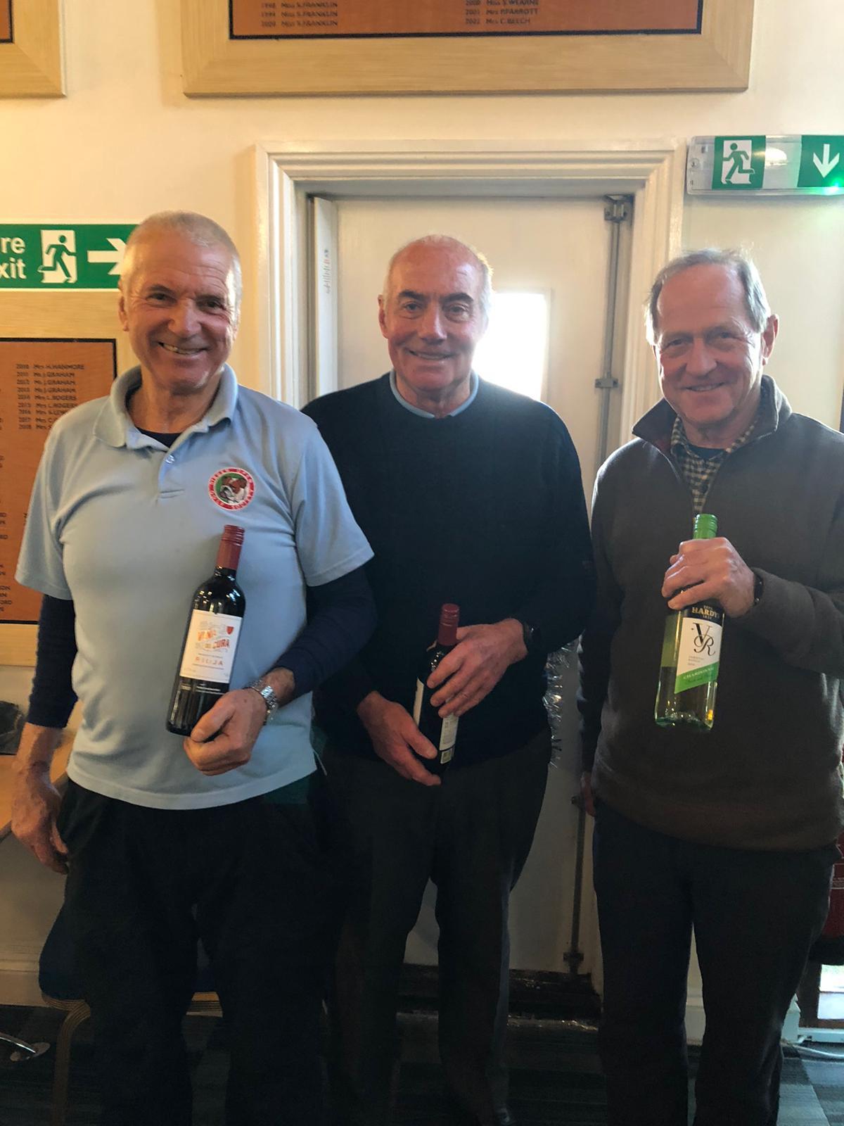 Wine Winners: 3 December:  L - R: D Loman, I Cameron, A Flaxman