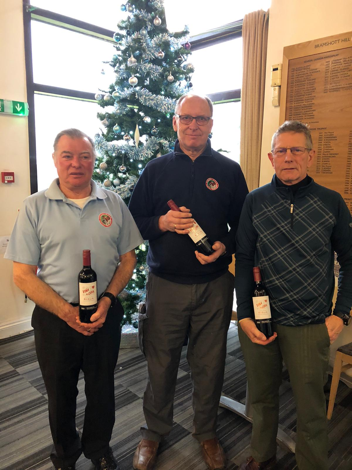 31 December Wine winners:- P Mortimer - A Turnpenny - M Eve