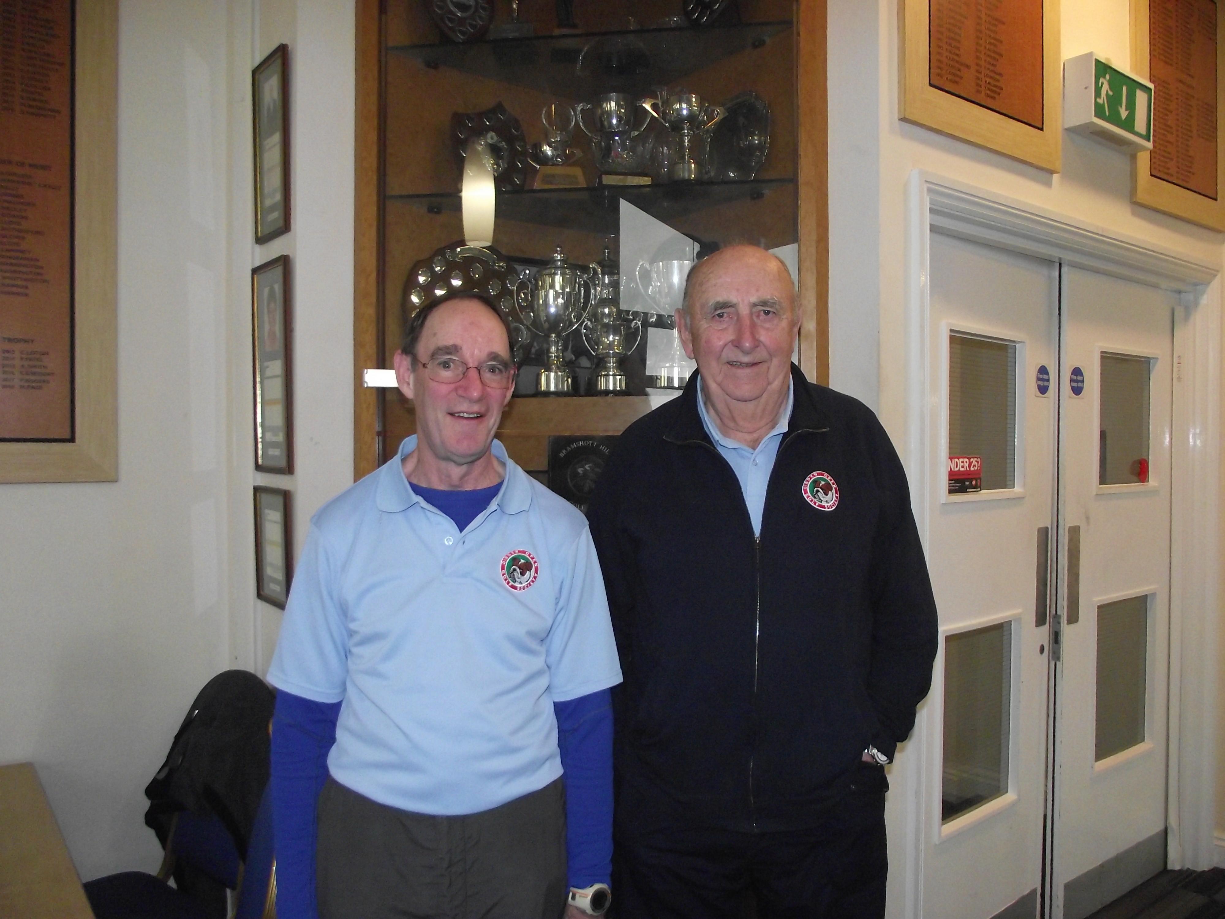 12Feb. Winners L to R Roger James; Peter Blackwood