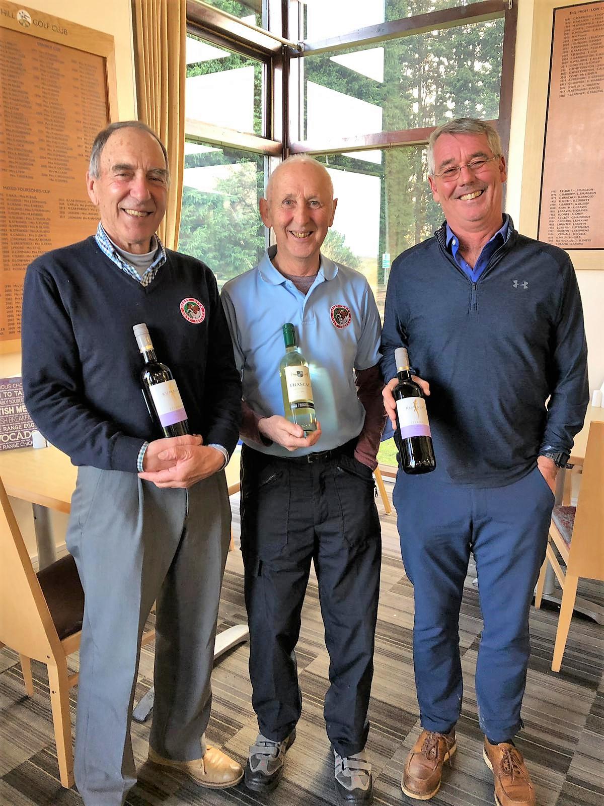 19Feb. L to R Wine winners:- J Poore - D Wilkins - P Bell