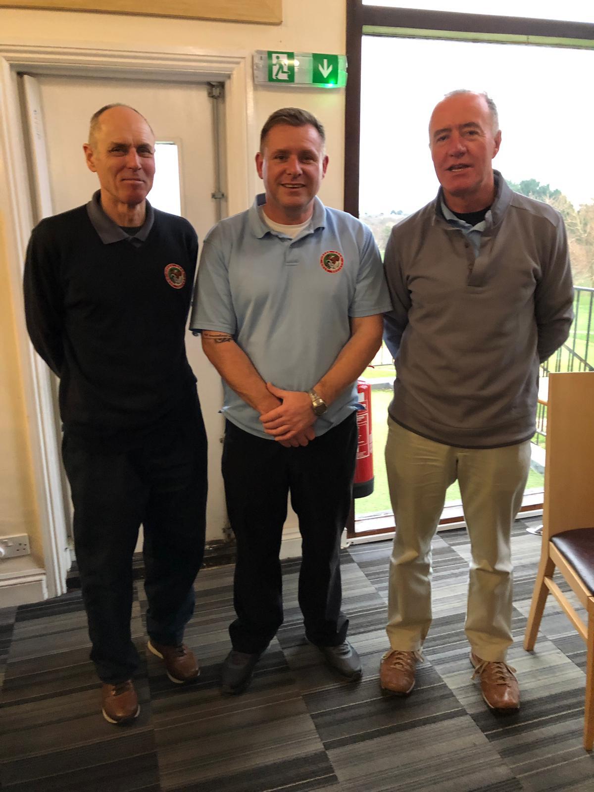 15Jan. Team Winners L to R:   P Wastell;  Paul Mortimer;  D McManus