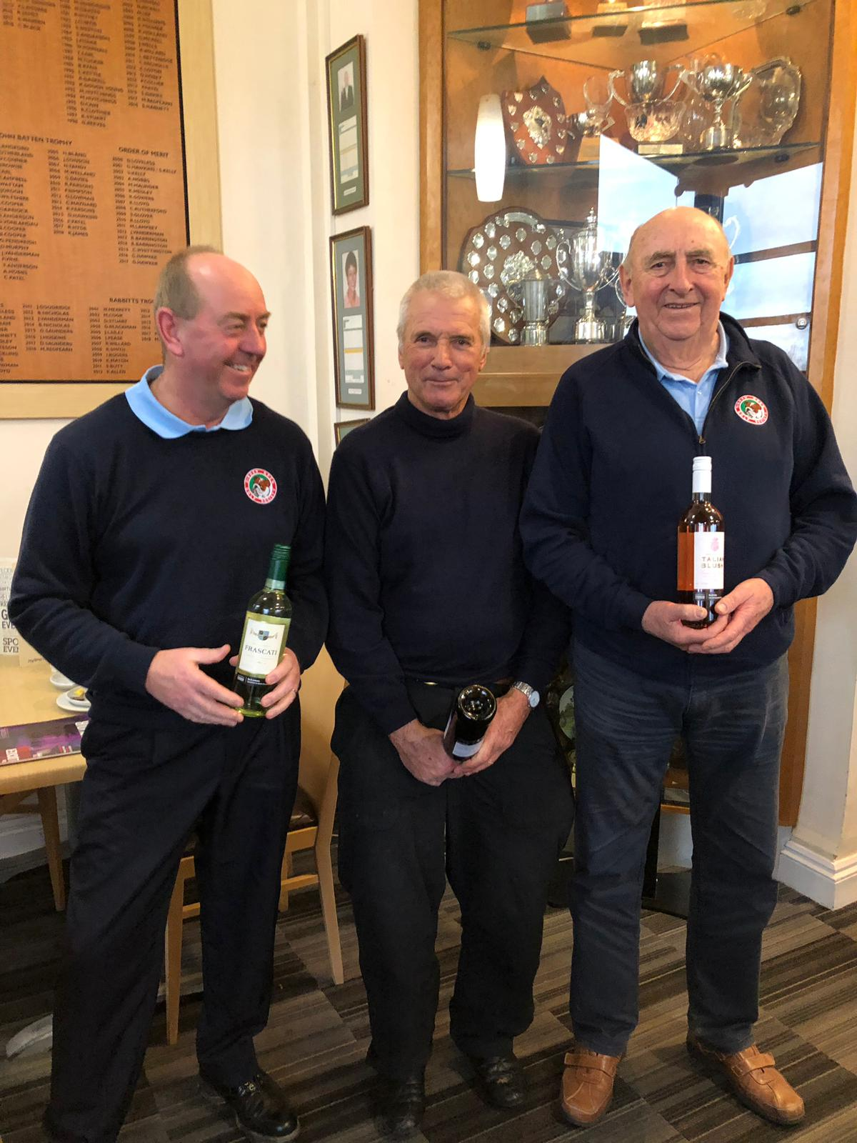 15Jan: Wine Winners: L to R: J Slade; D Lowman;  P Blackwood