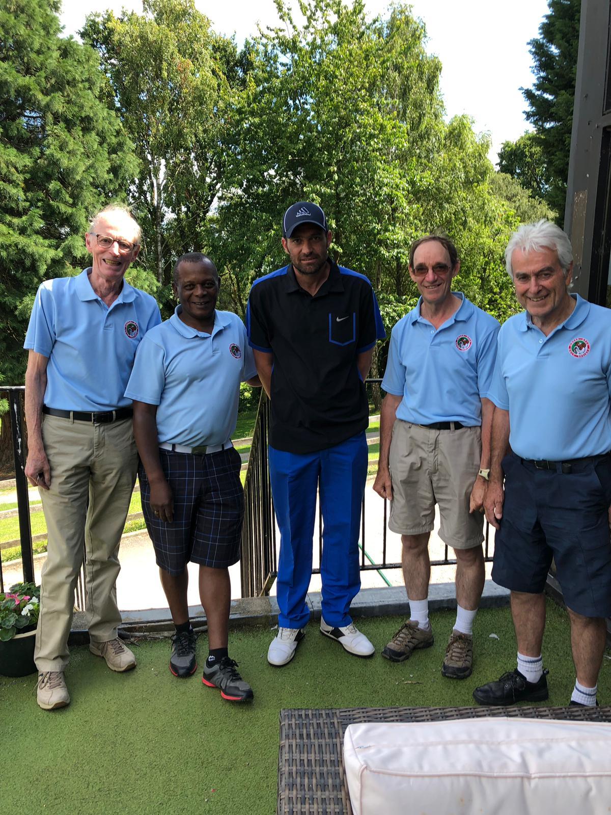 3 July:  L to R:- 2nd P Dent – 4th E Nkomo – 5th P Cox – 1st R James – 3rd O McCann