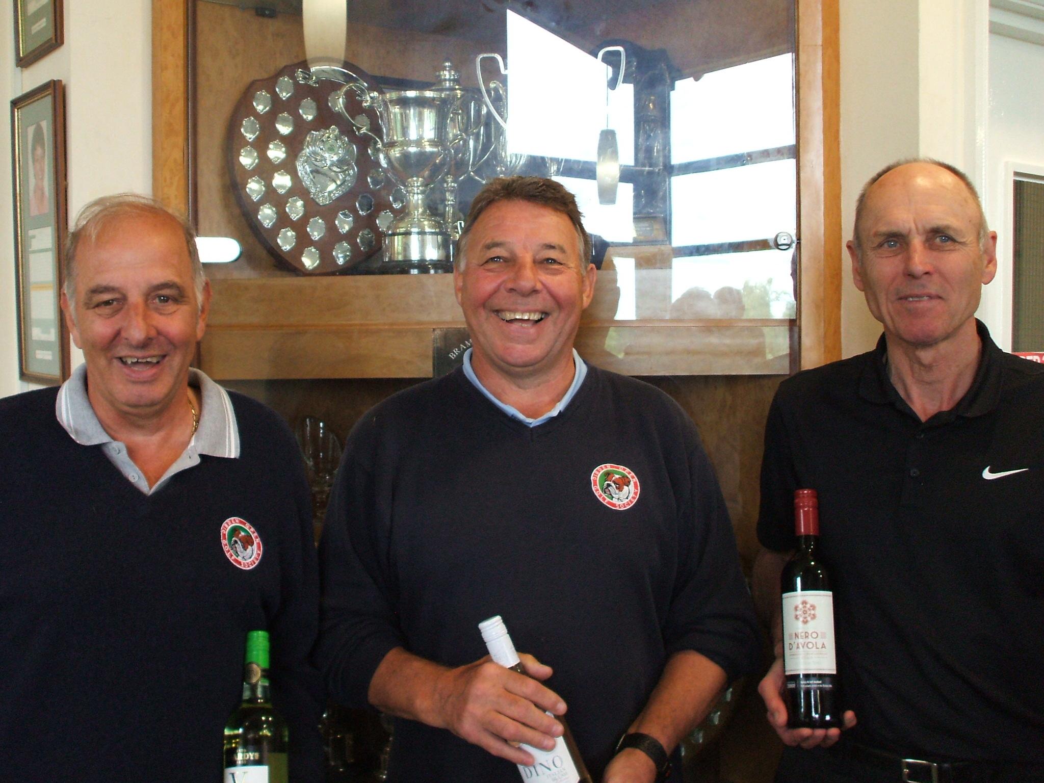 11 June: Wine winners l to r Colin Viney. Chris Bray; Paul Wastell