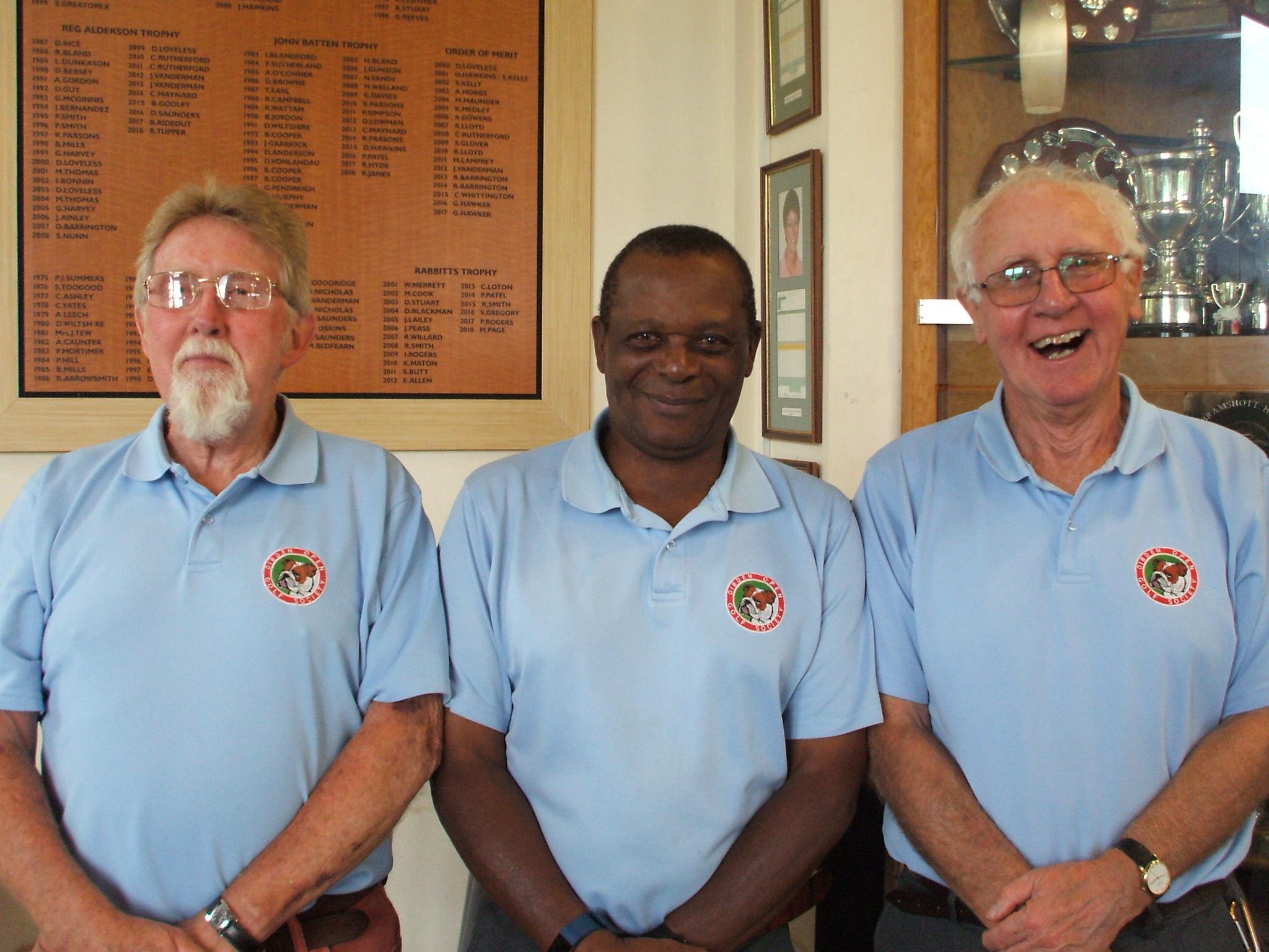 11 June: 2nd place l to r Phil Huxley; Elijah Nkomo; Brian Dash