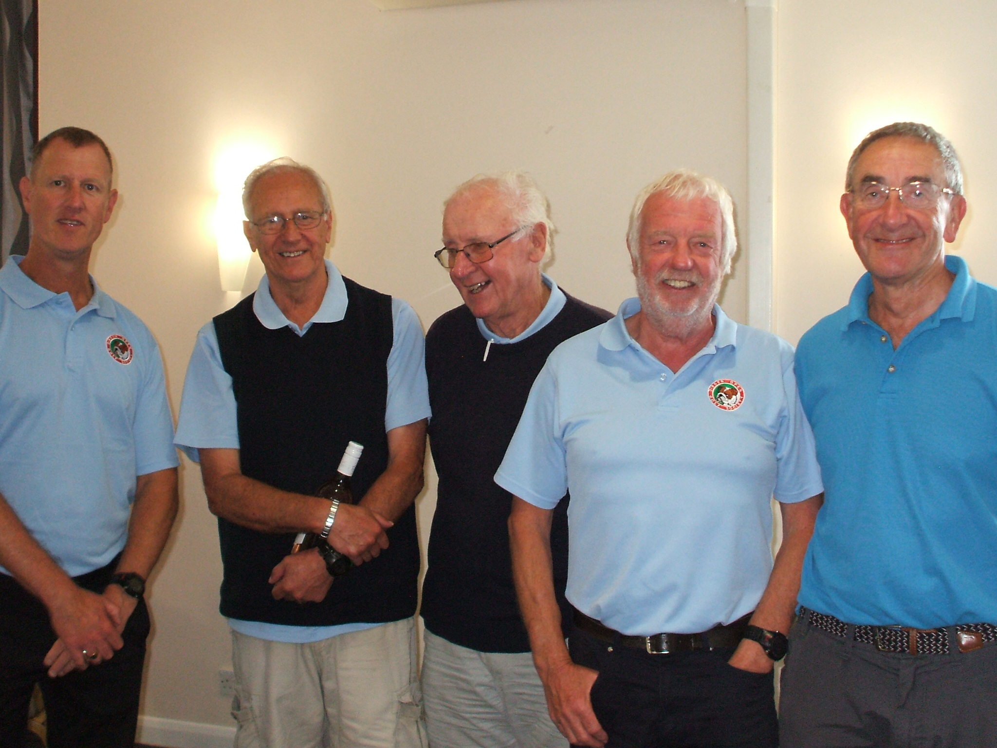 18 June: Winners l to r Nigel Union; Ron Gooding; Brian Dash; Peter Dunn; Les Maycey