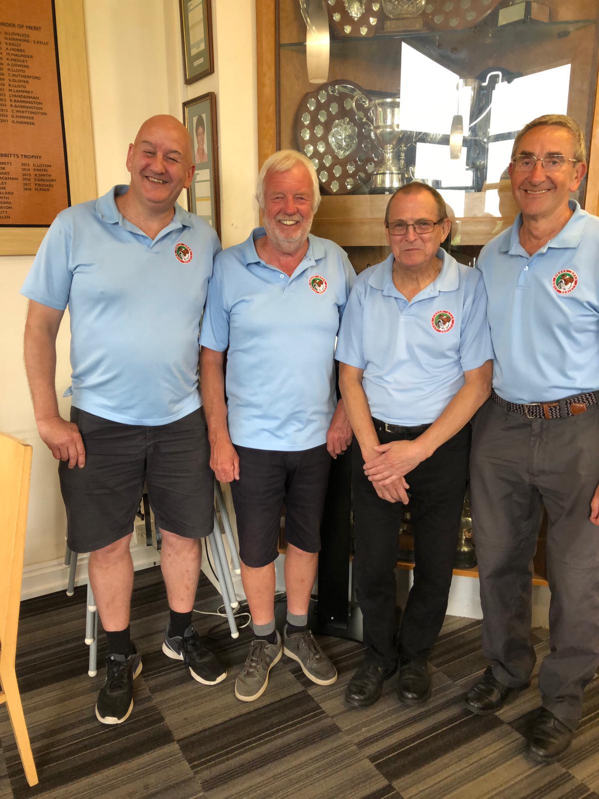25 June: L to R:- Winners  A McCaffrey- 4th P Dunn- 2nd J Beadell- L Maycey