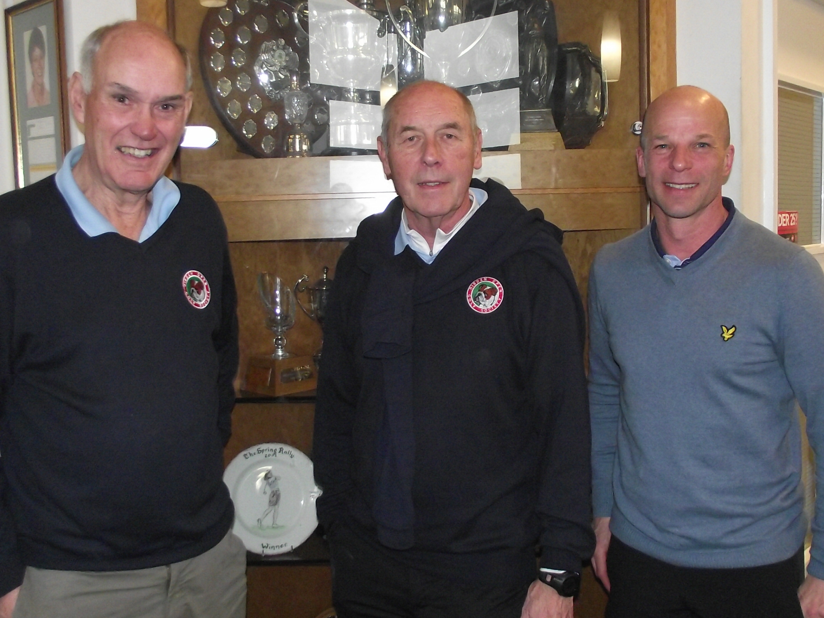 19 March: 2nd L to R Bob Coombs; Ken Barge; Paul Pallaster