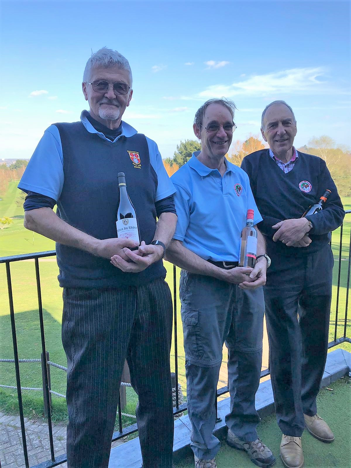 26 March:  Wine Winners: L to R: D Thorpe - R James - J Poore