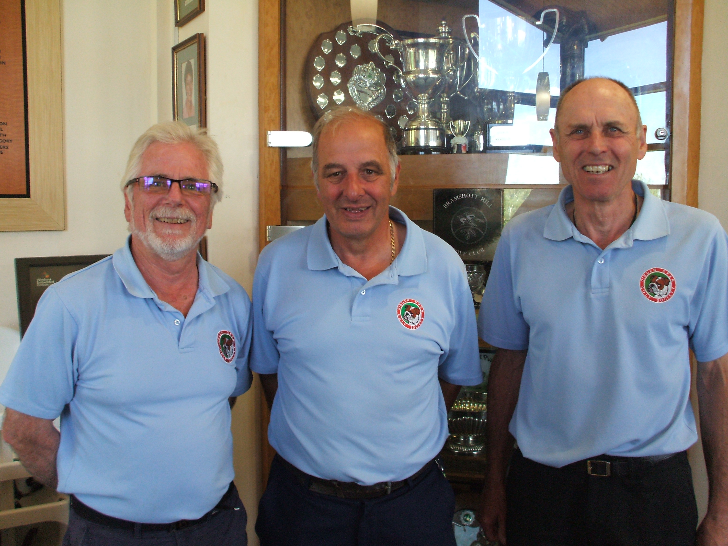 21 May: 2nd place team l to r Steve Hawkes; Colin Viney; Paul Wastell