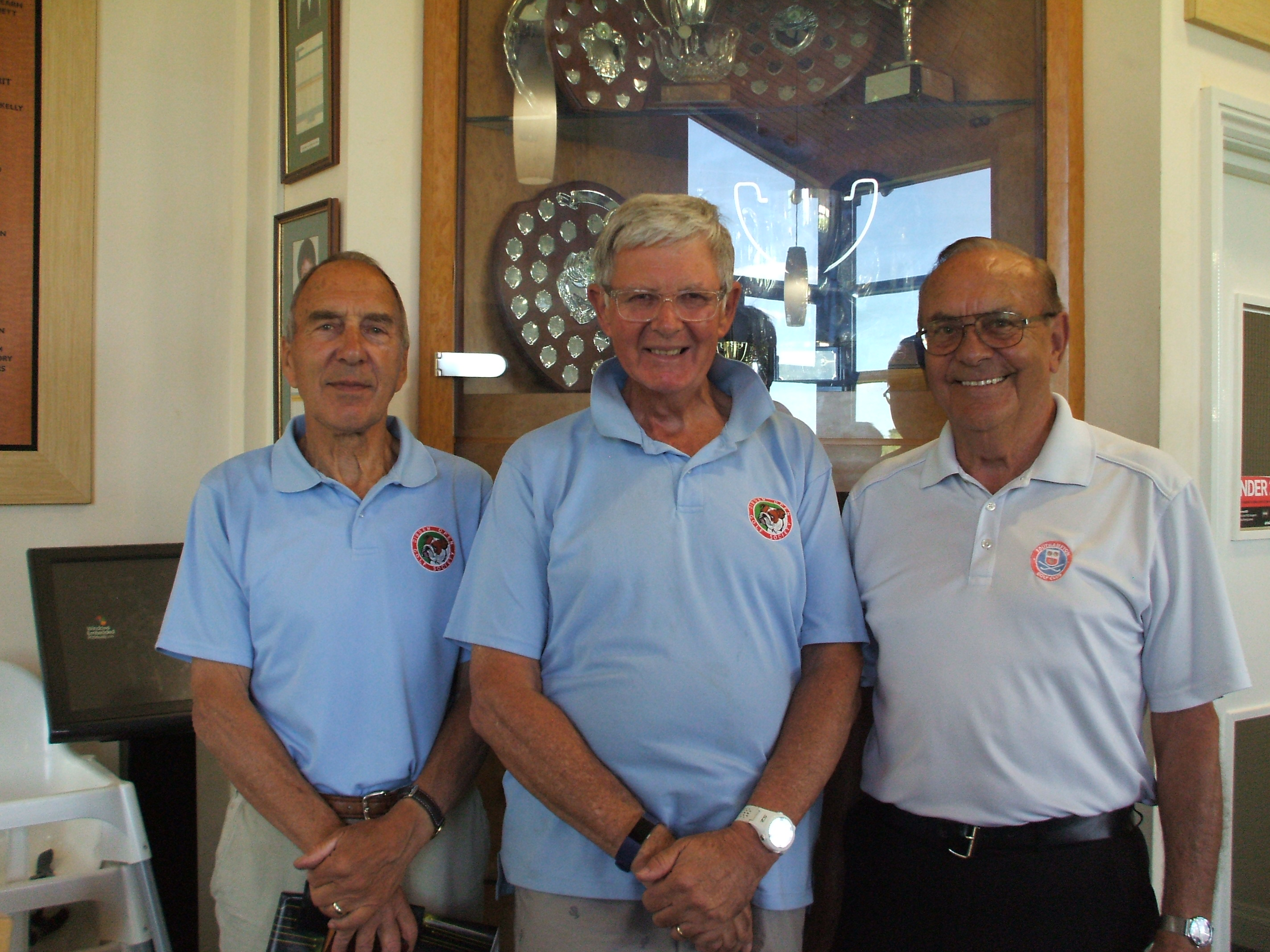 21 May: 3rd place team l to r John Poore; Clive Ellis; Dave Lockwood