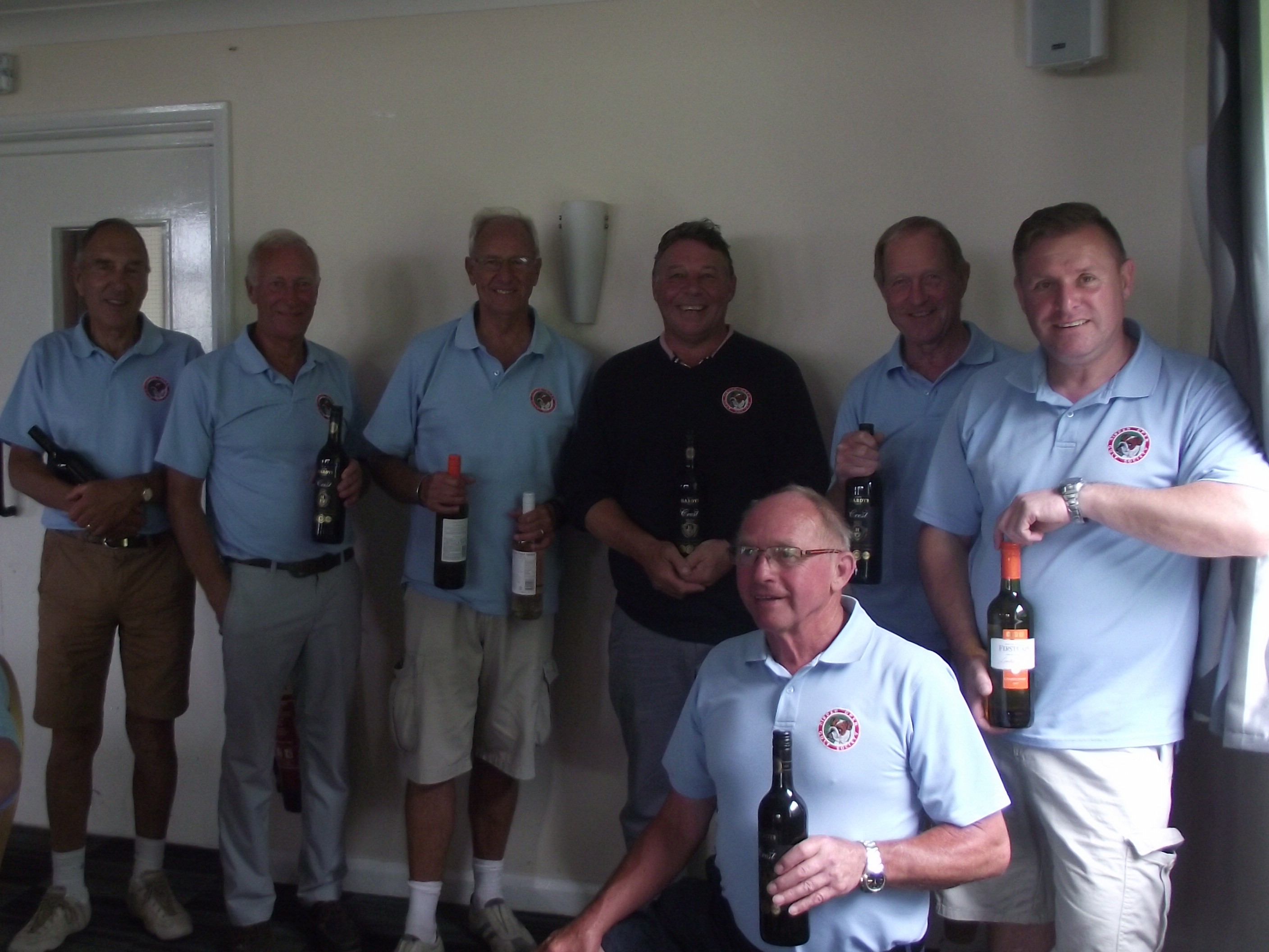 N/Ps l to r John Poore; Rod Emberson; Ron Gooding; Colin Peall; Alan Flaxman; Paul Mortimer