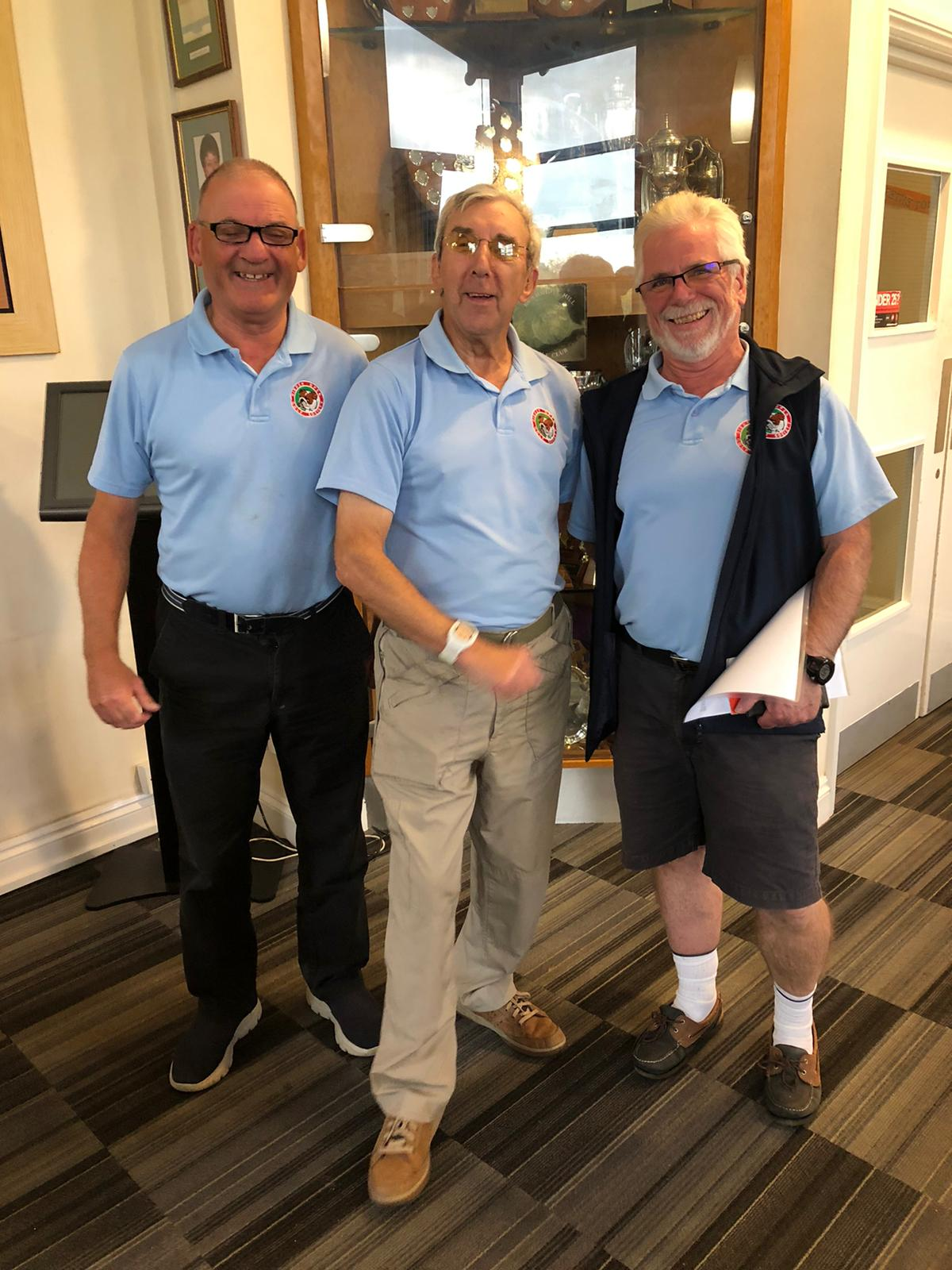 Winners 22 October L to R :- K Maton – L Cohen – S Hawkes