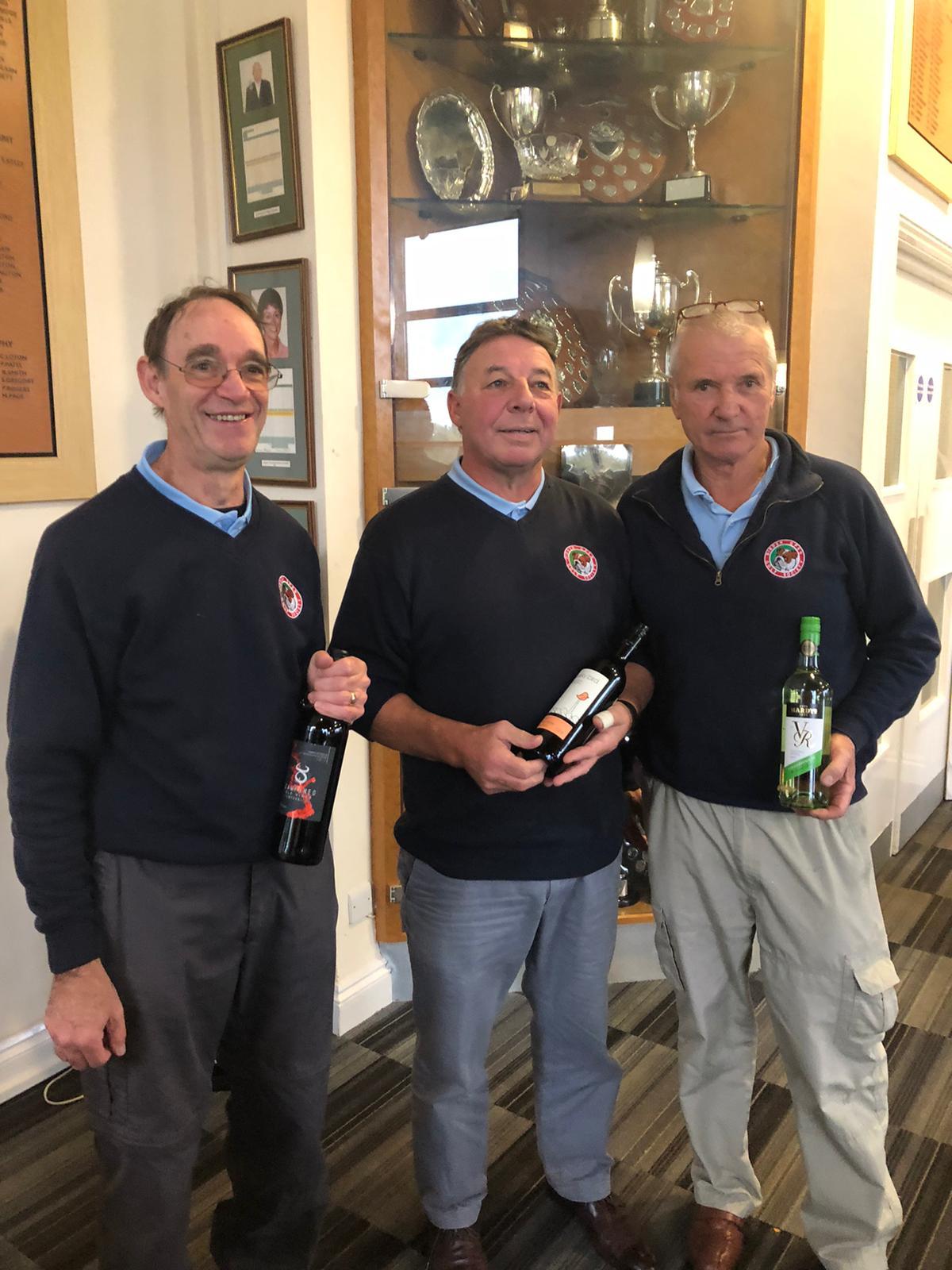 Wine winners 29 October: R James; C Bray; D Lowman