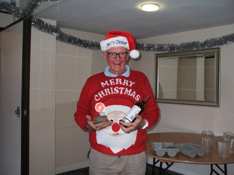 Eclectic stableford winner Clive Ellis